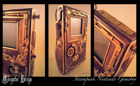 Steampunk Nintendo Gameboy by Absynthe Design