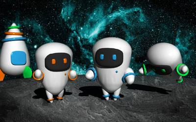 Les n'astronautes by Araknee