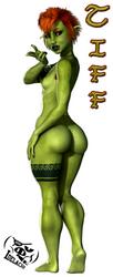 Tiff Nude Rear by Idelacio