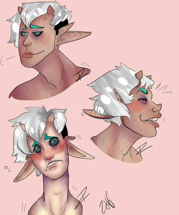 Expression practice  by InkedTrail