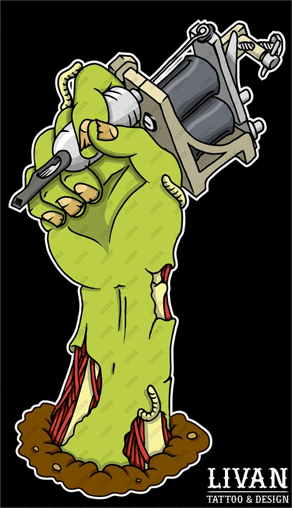 zombie hand by livan design on deviantart ForZombie Tattoo Machine