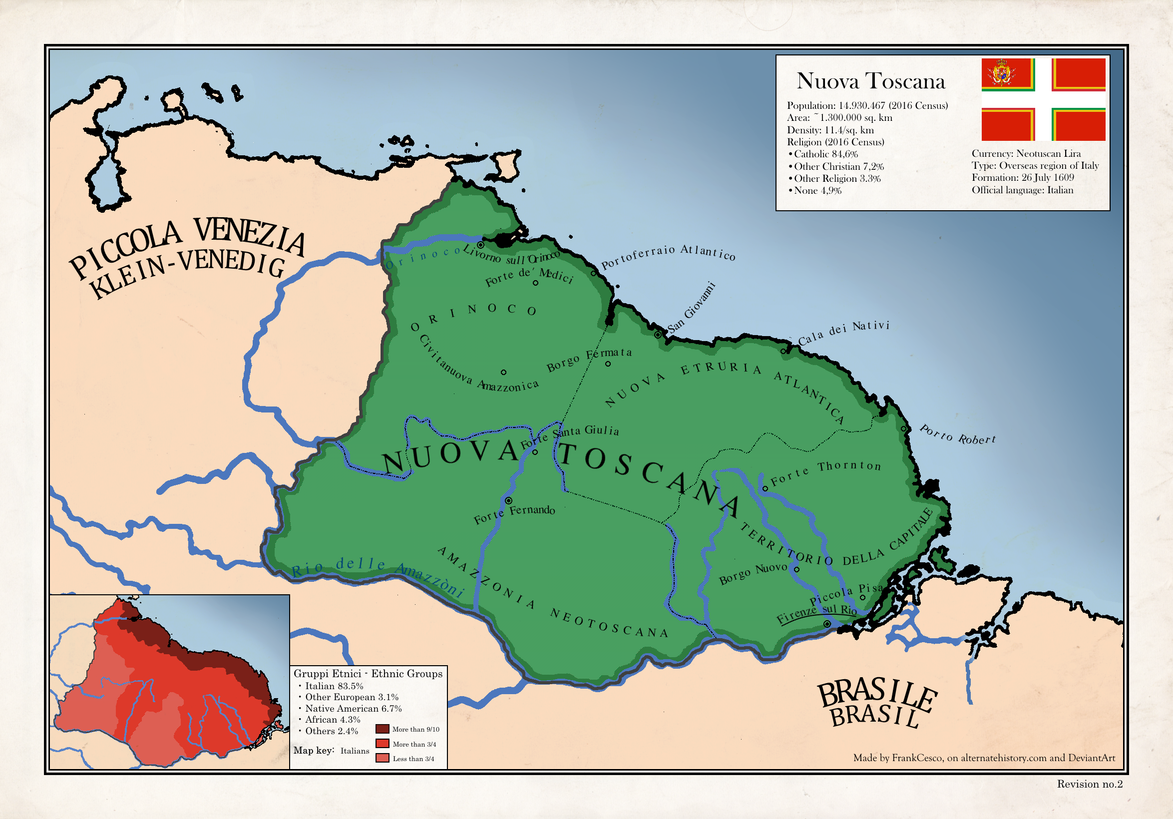 Map Of The Nuova Toscana In South America By FrankCesco On DeviantArt - Map south america