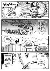 Tiger and werewolf fight