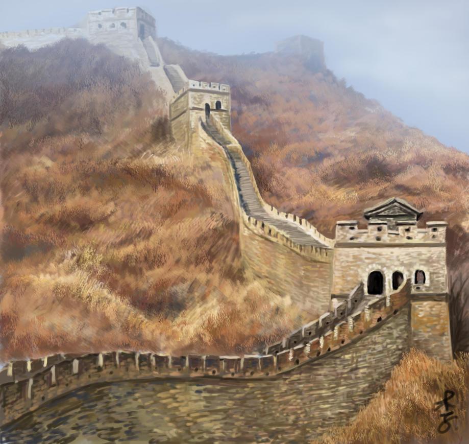 Great Wall of China by zeushadesposeidon