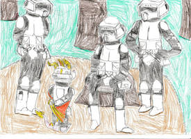 Welcome to scout troopers little one: Redraw by Rathaloshunter16