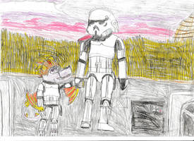 Fatherly stormtrooper captain by Rathaloshunter16