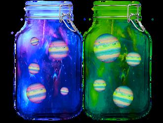 Candy Planet Jars by oXpixelpixelpixelXo