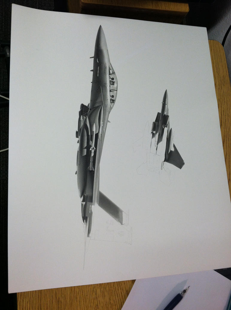 F-15E for 'Pako' Commission WIP by Sketchh22