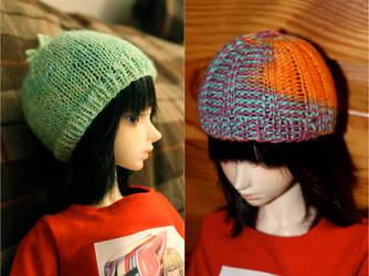 Knit Doll Hats