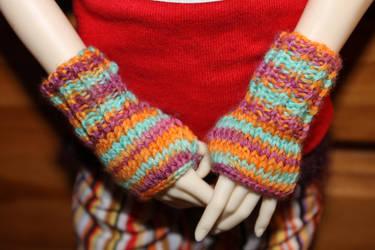 Doll Fingerless Gloves