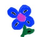 Blue Flower by darkorb3