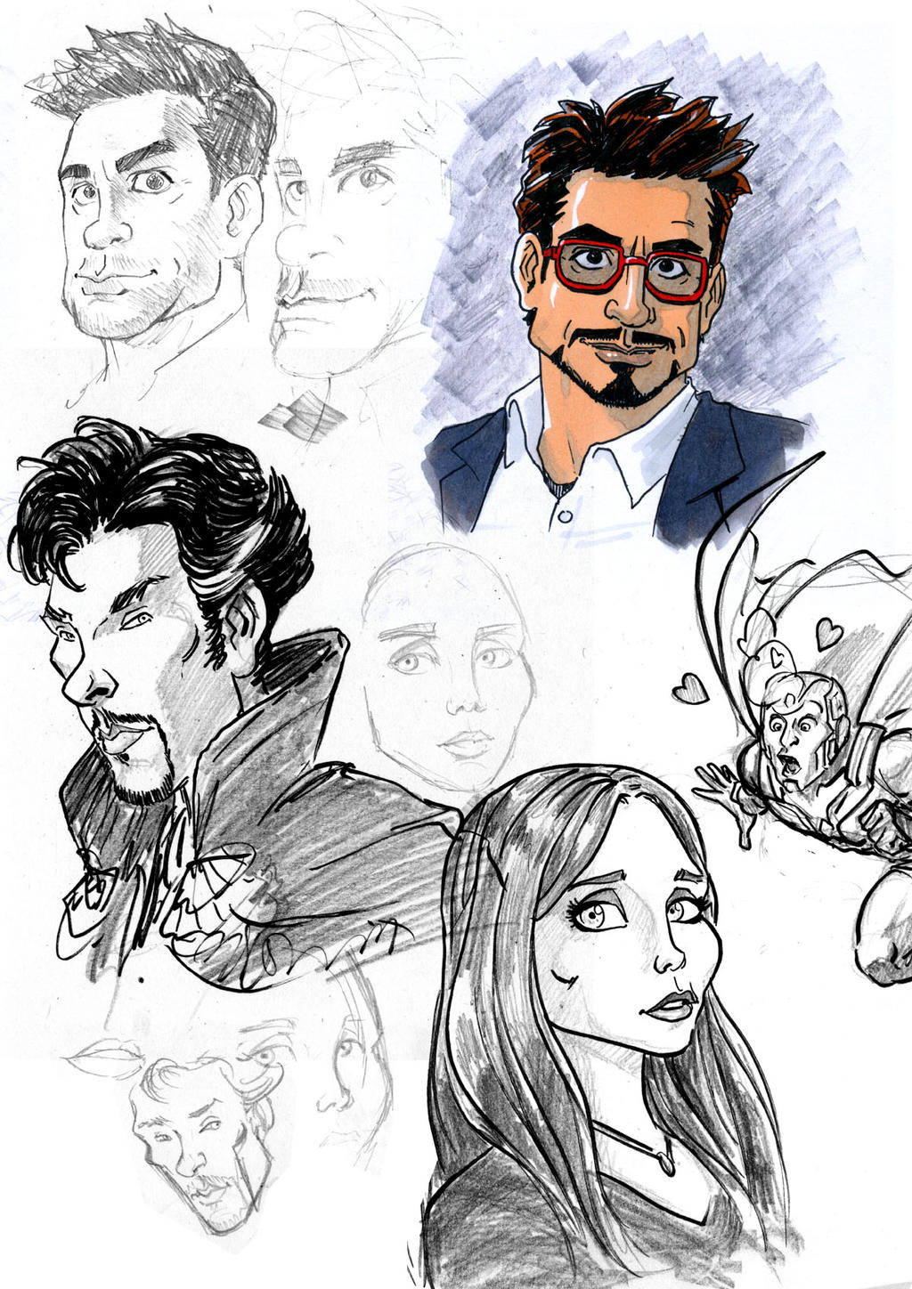 Sunday Avengers Doodle by Chris-Yop-Lannes