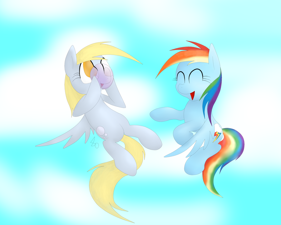 .:Request:. Derpy and Rainbow Dash Hanging out by ...  Filly Rainbow Dash And Derpy