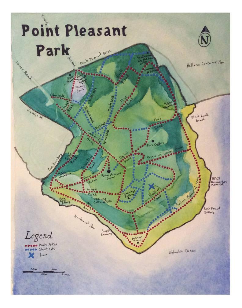 Point Pleasant Park Map Point Pleasant Park   map by Isadorrah on DeviantArt
