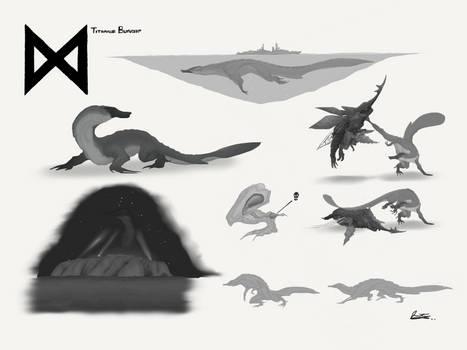 Titanus Bunyip - Godzilla: KOTM Concept