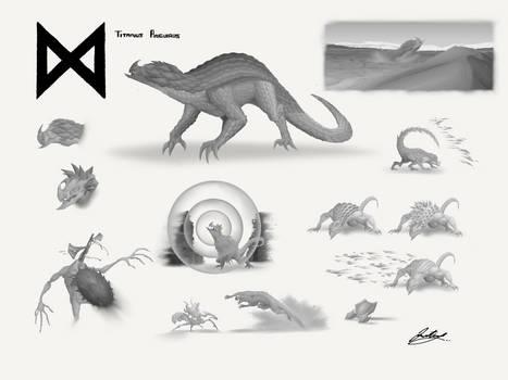 Titanus Anguirus - Godzilla: KOTM Concept