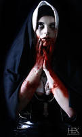 zombie nun by HexPhotography
