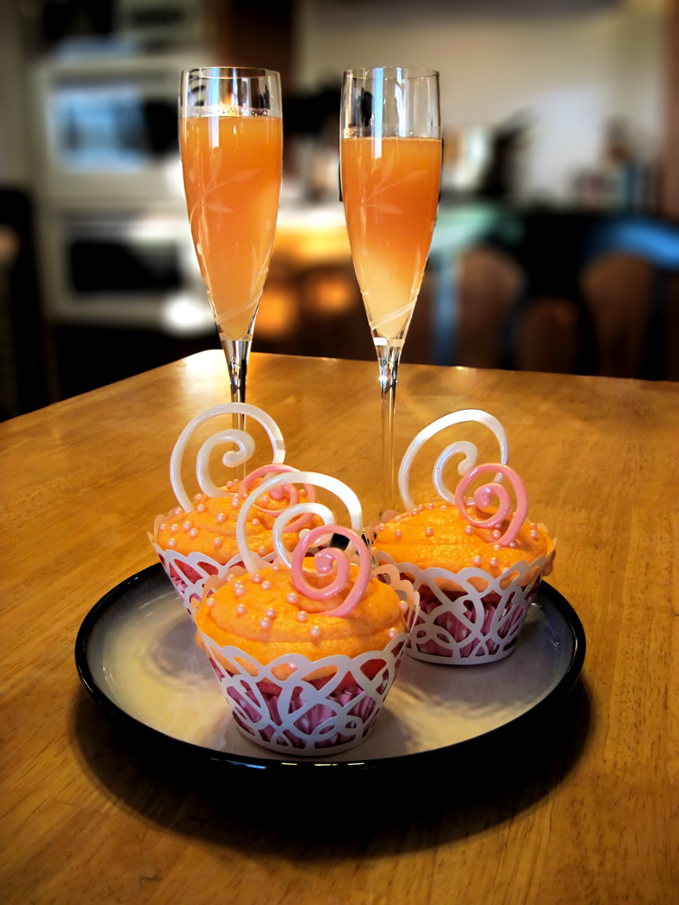 Pink Champagne Mimosa Cupcakes by theshaggyturtle on DeviantArt