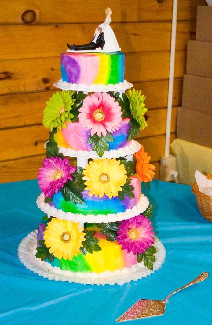 Tie-Dye Wedding Cake by theshaggyturtle