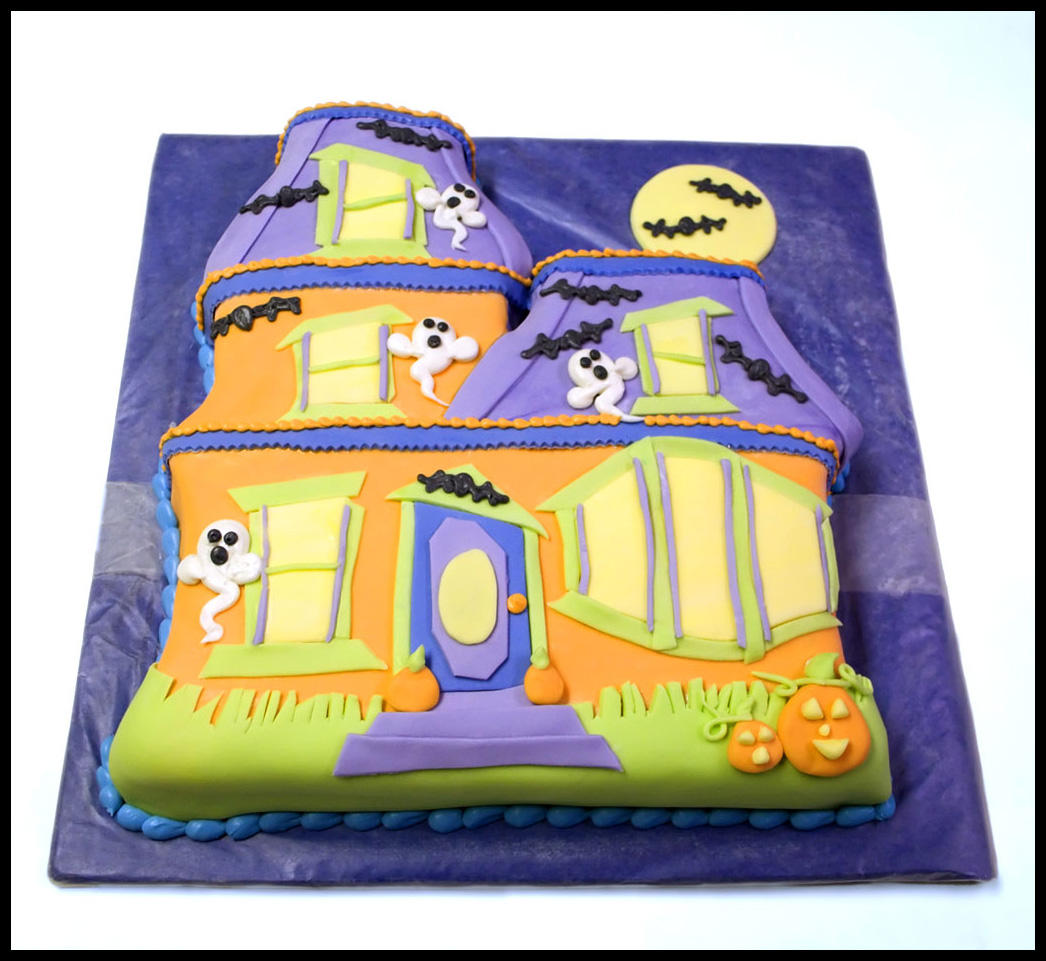Decorate My House Haunted House Cake By Theshaggyturtle On Deviantart