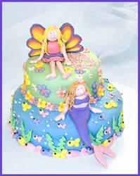 Faerie and Mermaid Cake
