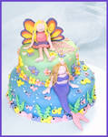 Faerie and Mermaid Cake
