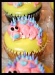 Valentine Dino Cupcake