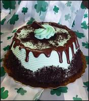 Mint Dessert Cake by theshaggyturtle