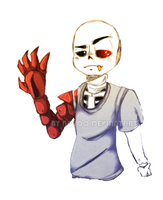 ROBOT HAND RULE THE SKELETON by Noioo
