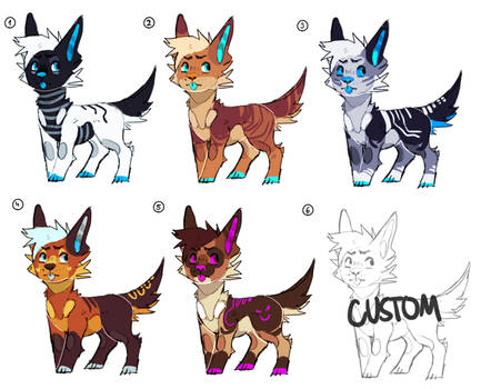 + adopts / open 4/6 +