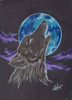 31 - howling wolf by Rikkimaru129