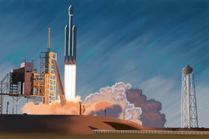 51 - Falcon Heavy liftoff by Rikkimaru129