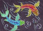55- Koi fish drawing