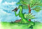 Dragon and raven by Rikkimaru129
