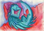 Sleeping little dragon by Rikkimaru129