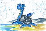 157 - Pokeinktober day 11 : Lapras by Rikkimaru129