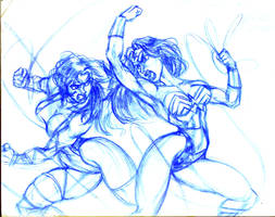 She-Hulk Vs. Wonder Woman