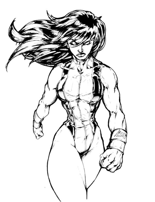 She Hulk2 Inks By CdubbArt