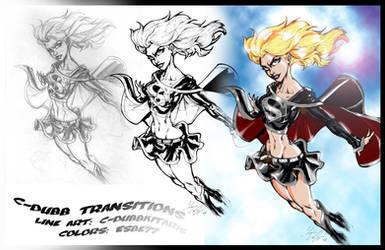 Evil Supergirl Collab by CdubbArt
