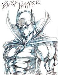 Black Panther Sketch by CdubbArt