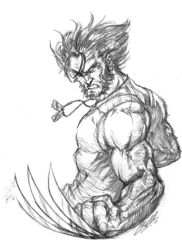 Part 14 / 9 Wolverine_sketch_by_c_dubbkitari5