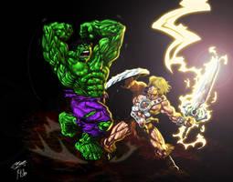 He-man Vs. Hulk Final Clrs by CdubbArt