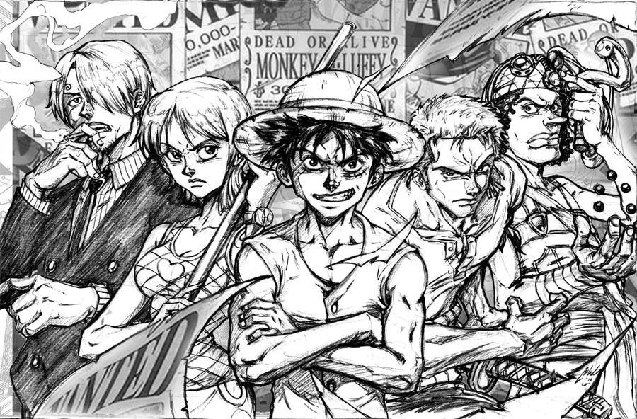 One Piece Lineart : Roanoa explore on deviantart