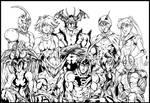 Manga Warriors Inks