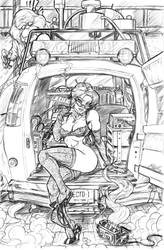 Ghostbusters: Janine Commish by CdubbArt