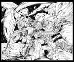 Gundam Vs. Prime Inks by CdubbArt