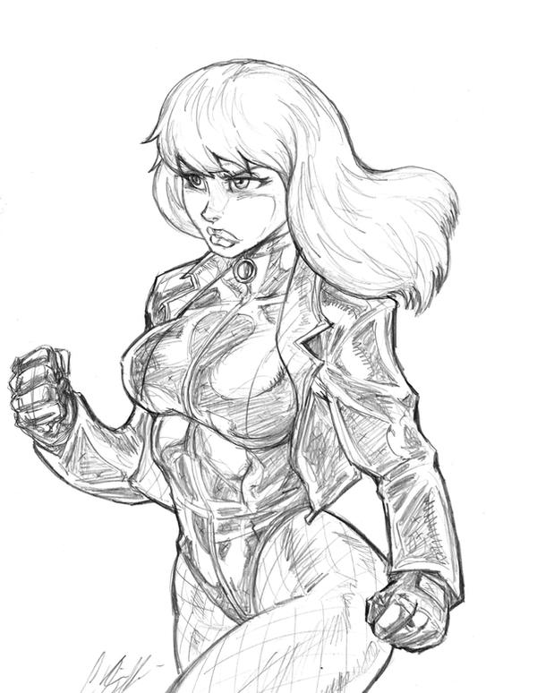 Black Canary sketch by CdubbArt