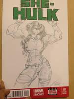 She-Hulk Sketch Cover by CdubbArt