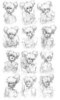 Kristine Bulk Sketch by CdubbArt