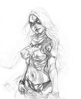 Dark Ms. Marvel WIP by CdubbArt